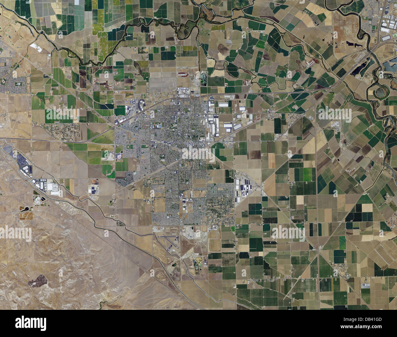 Aerial Photo Map Of Tracy California Stock Photo 58481373 Alamy