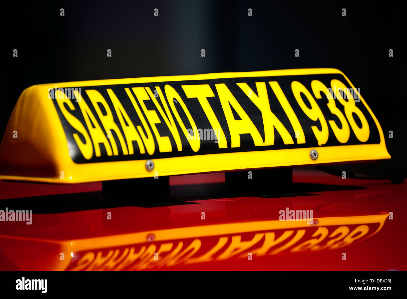 Taxi. Sarajevo.Bosnia- Herzegovina. Balkans .Europe. - Stock Image