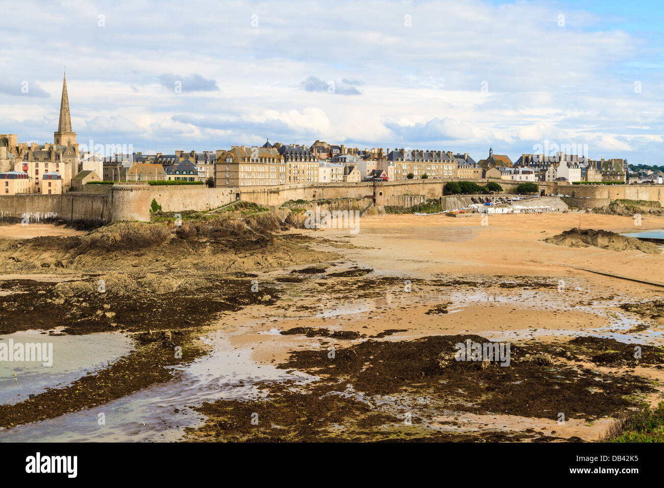 Saint Malo View on City Walls, Brittany, France - Stock Image