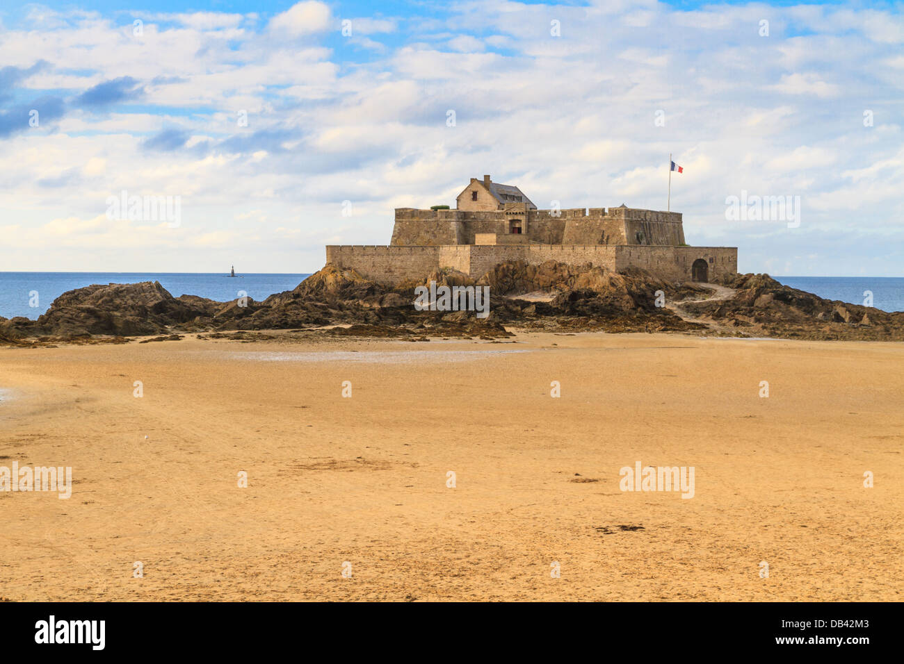 Saint Malo View on Fort National, Brittany, France - Stock Image