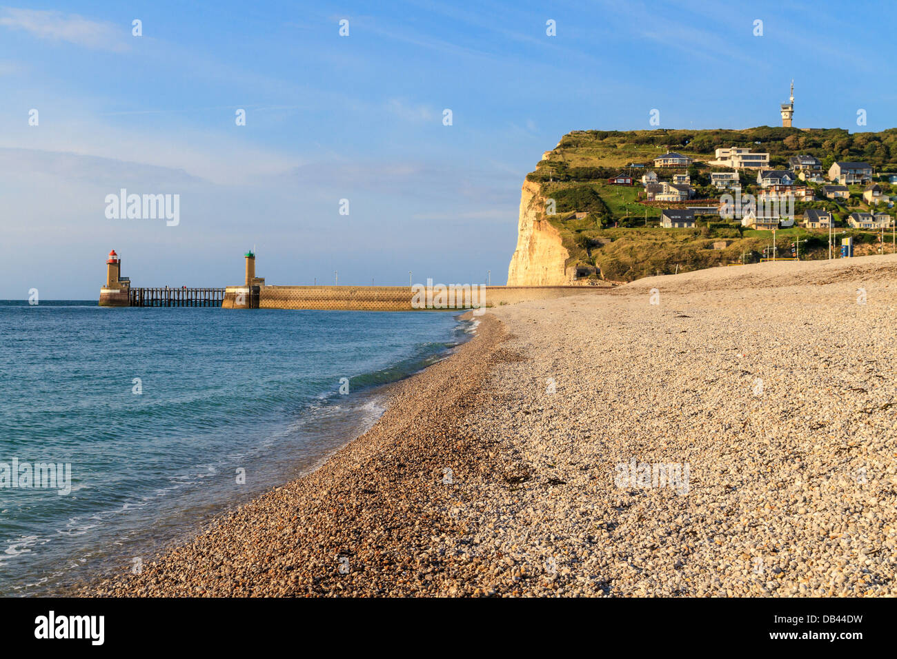 Normandy Coast near Fecamp, France - Stock Image