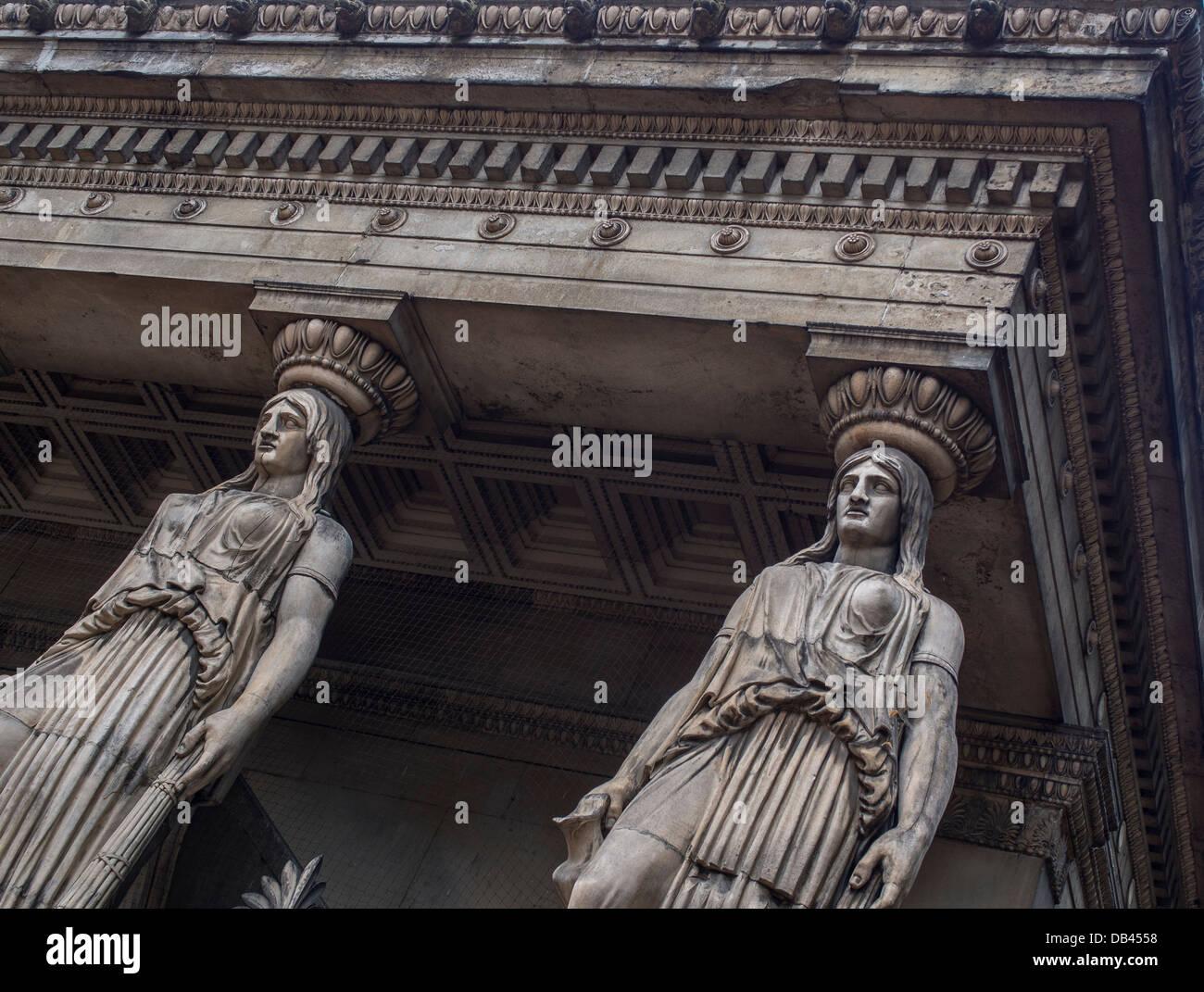 The Caryatids at St Pancras Parish Church - Stock Image