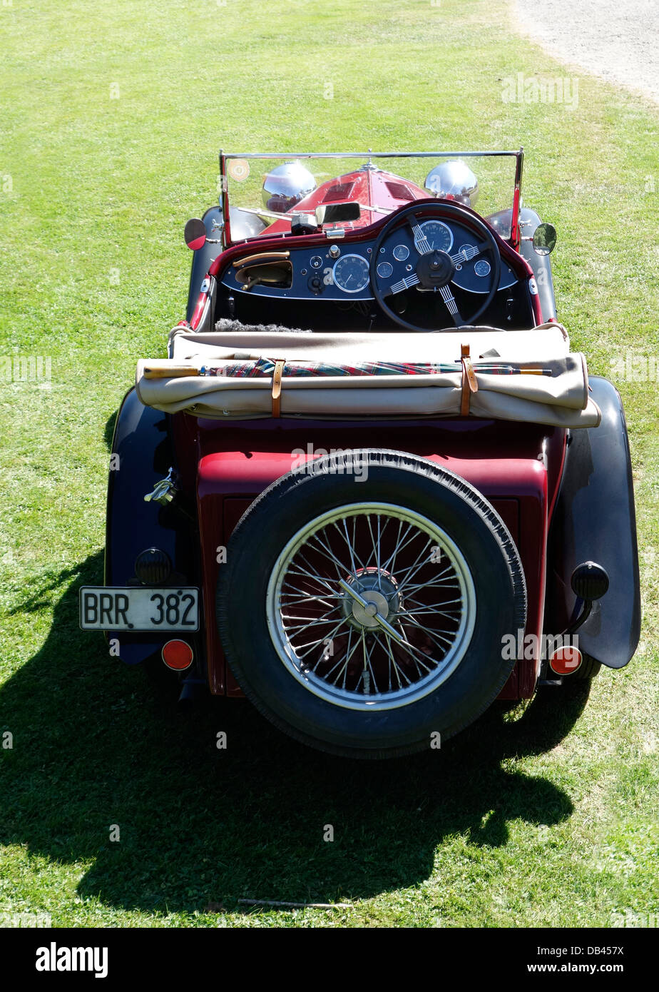 Back view of Wolseley Hornet Special. A motorcar from 1934 - Stock Image