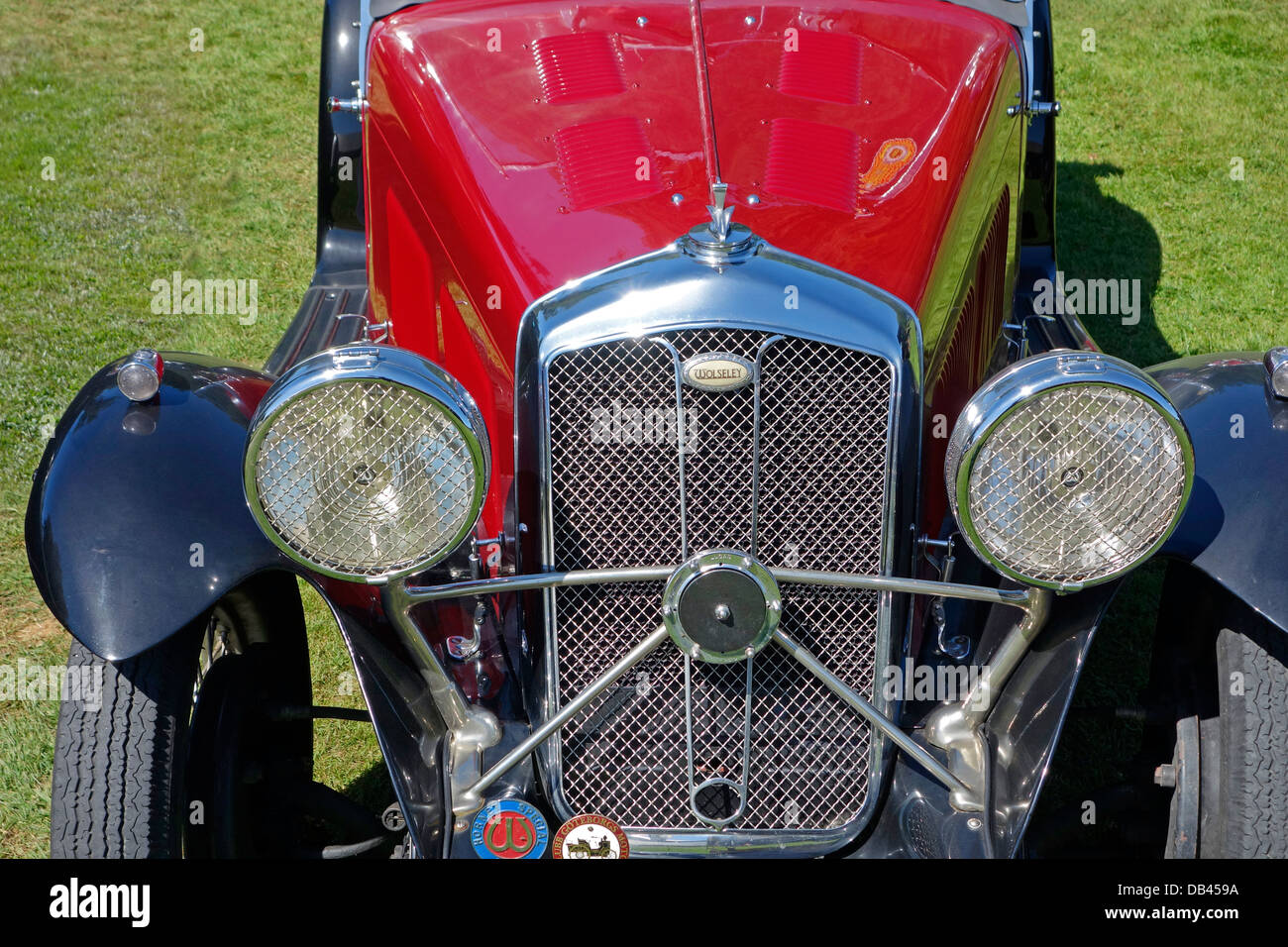 Front view of an antique automobile. - Stock Image