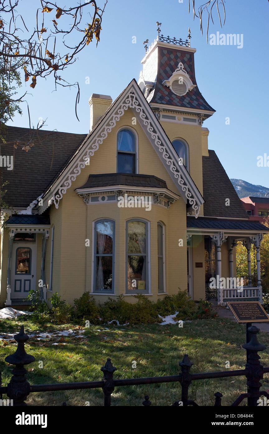 Arnett-Fullen House, Boulder, Colorado USA - Stock Image