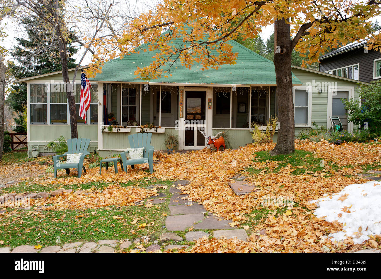 Peachy Cottage Chautauqua Boulder Colorado Usa Stock Photo Download Free Architecture Designs Terstmadebymaigaardcom
