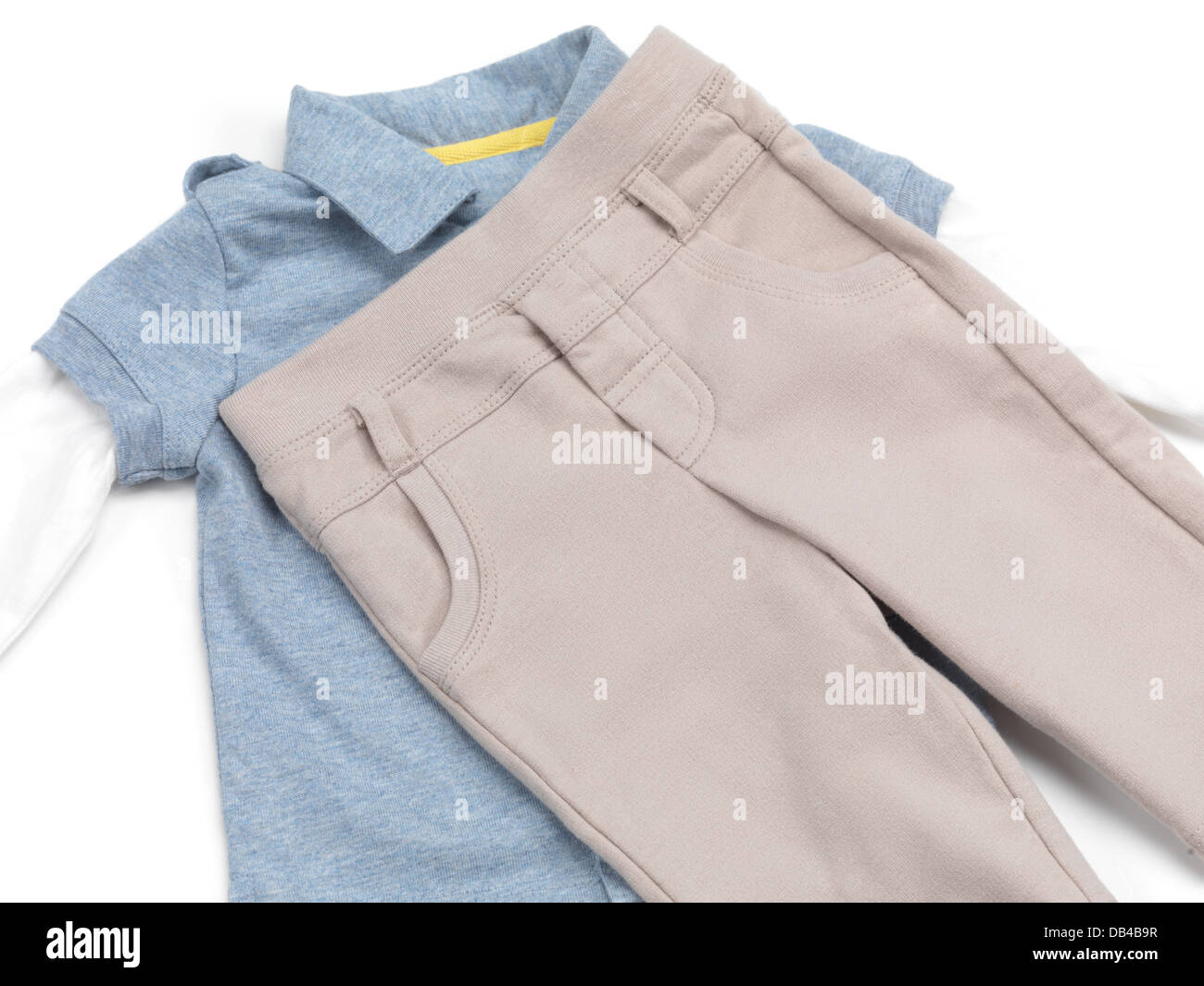 Baby boy clothes isolated on white background Stock Photo: 58489027 ...