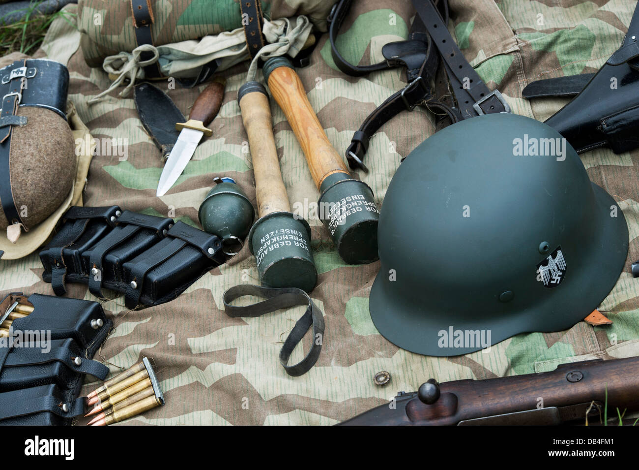 WW2 German army soldiers equipment - Stock Image