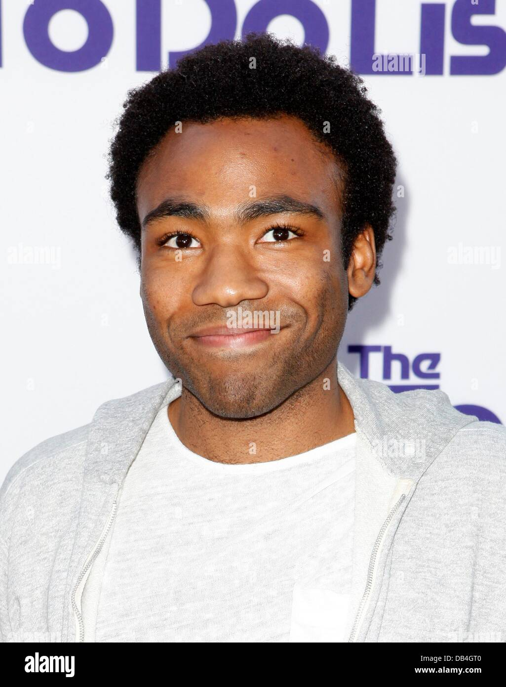 Los Angeles, CA. 23rd July, 2013. Donald Glover at arrivals for THE TO DO LIST Premiere, Regency Bruin Theatre, - Stock Image