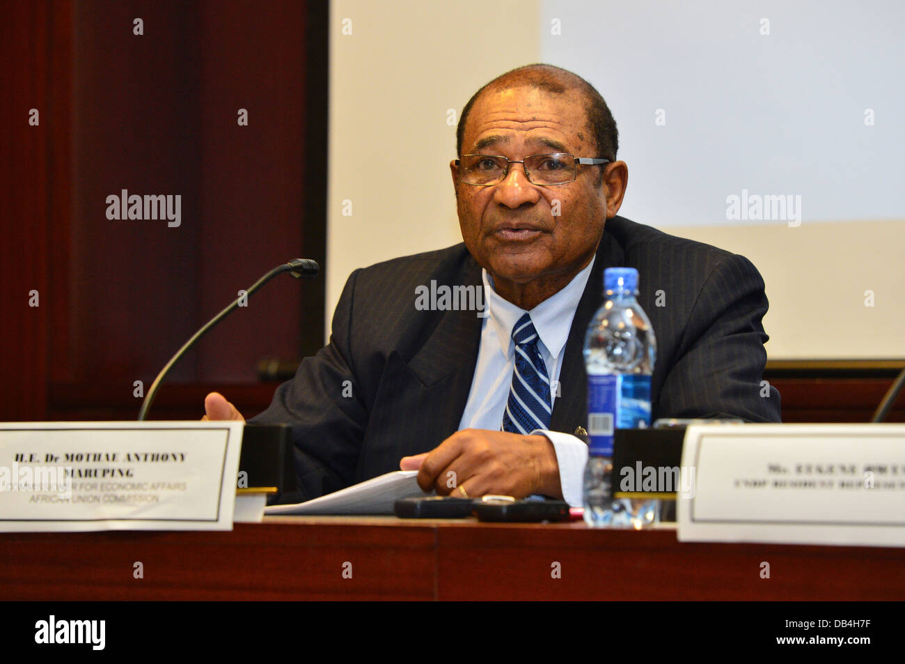 Dr Mothae Anthony Maruping, Commissioner for Economic Affairs, African Union Commission (AU), Addis Ababa, Ethiopia - Stock Image
