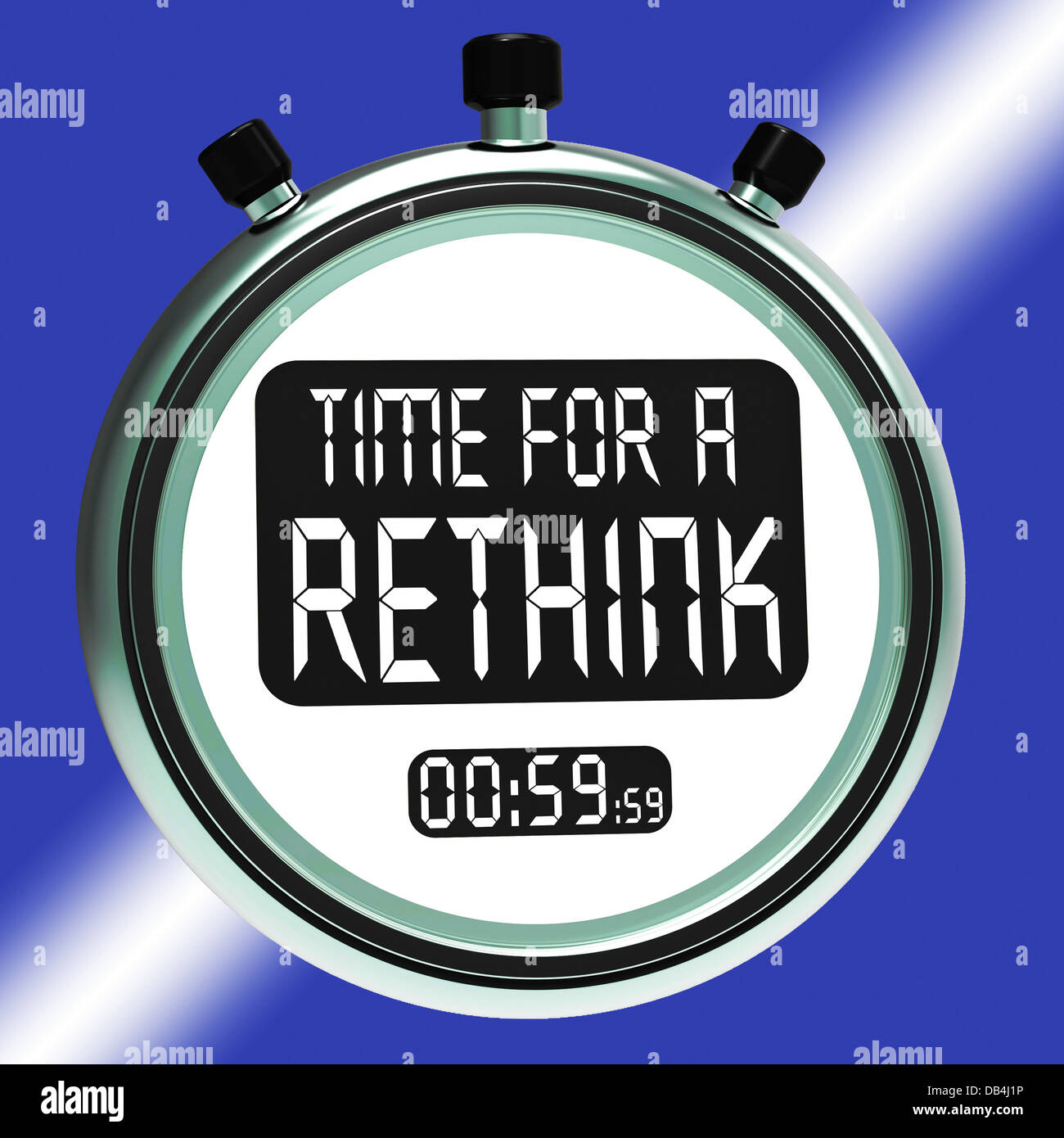 Time For A Rethink Means Change Strategy - Stock Image