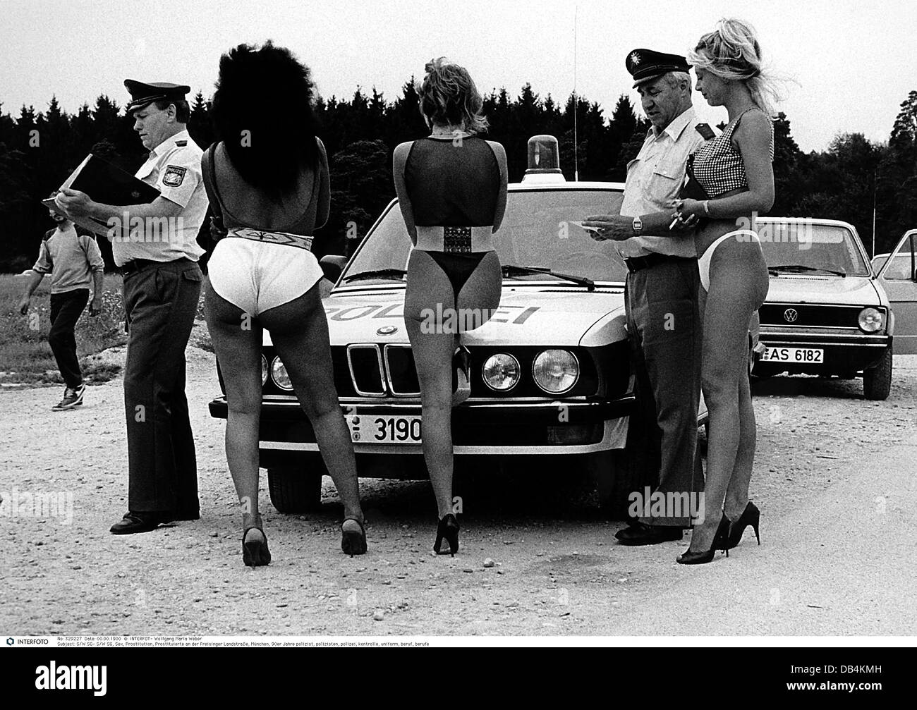 people, prostitution, prostitutes at  Freisinger Landstrasse, Munich, 1990s, , Additional-Rights-Clearences-NA - Stock Image