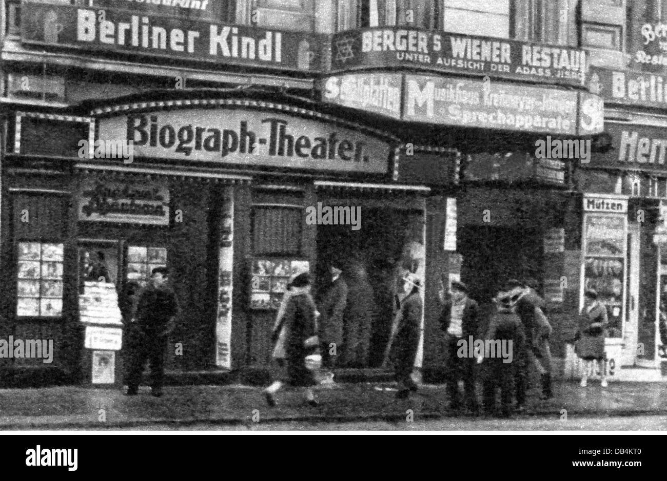 cinema, 'Biograph-Theater', Münzstrasse, Berlin 1929, Additional-Rights-Clearences-NA - Stock Image