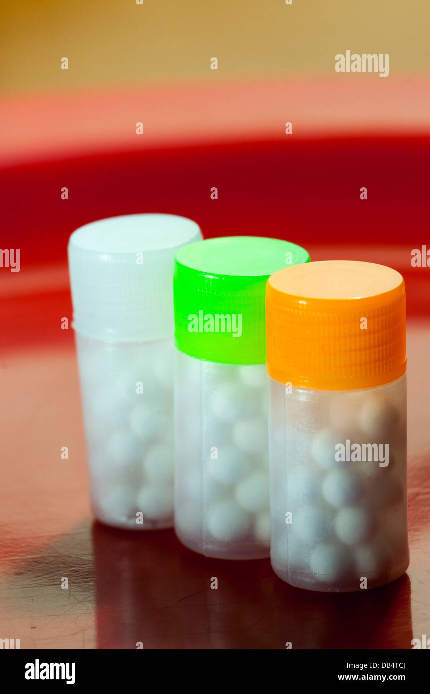 Homeopathy pills - Stock Image