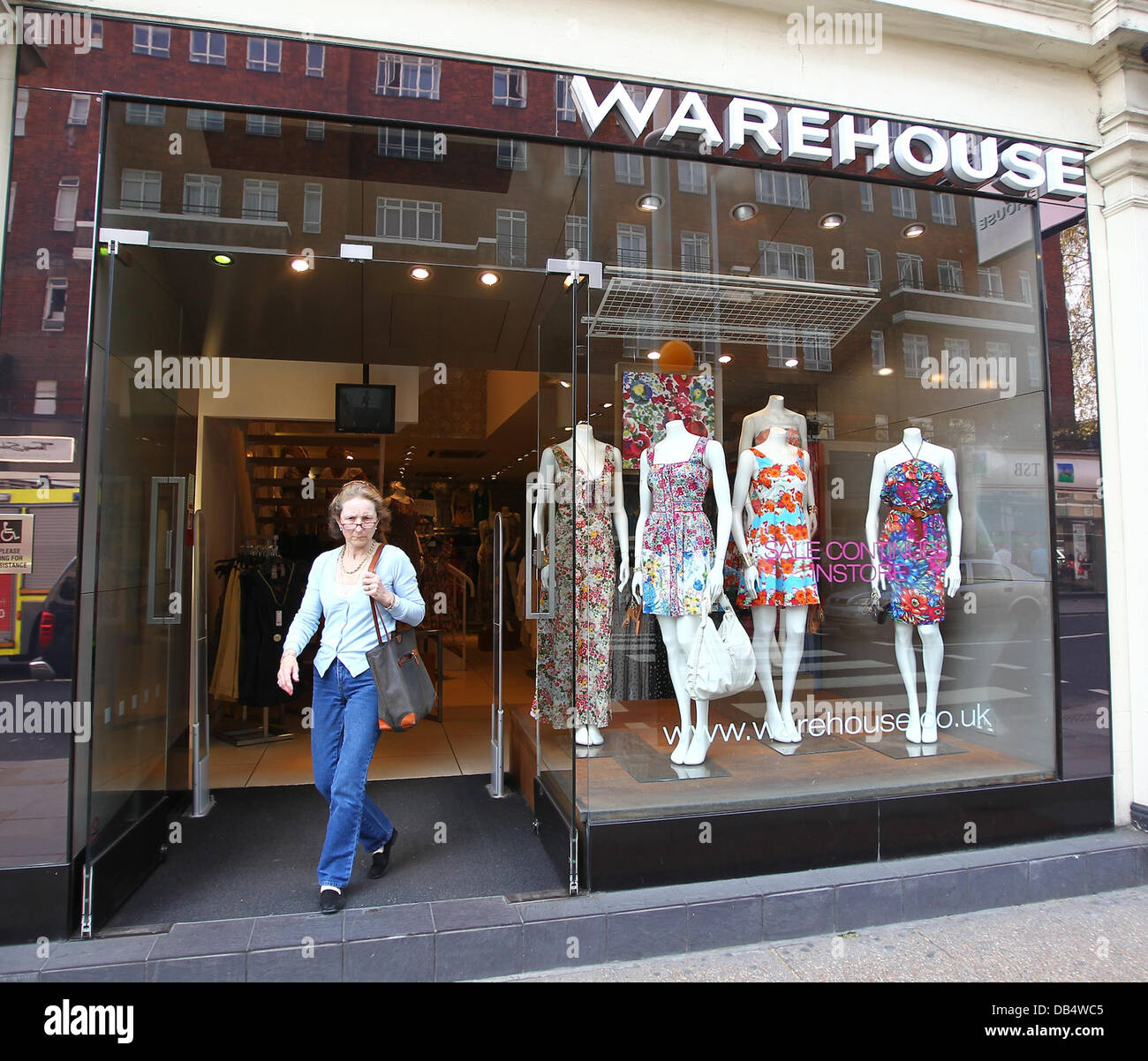 A general view of the King's Road branch of clothes shop Warehouse, where Kate Middleton bought four items  - Stock Image