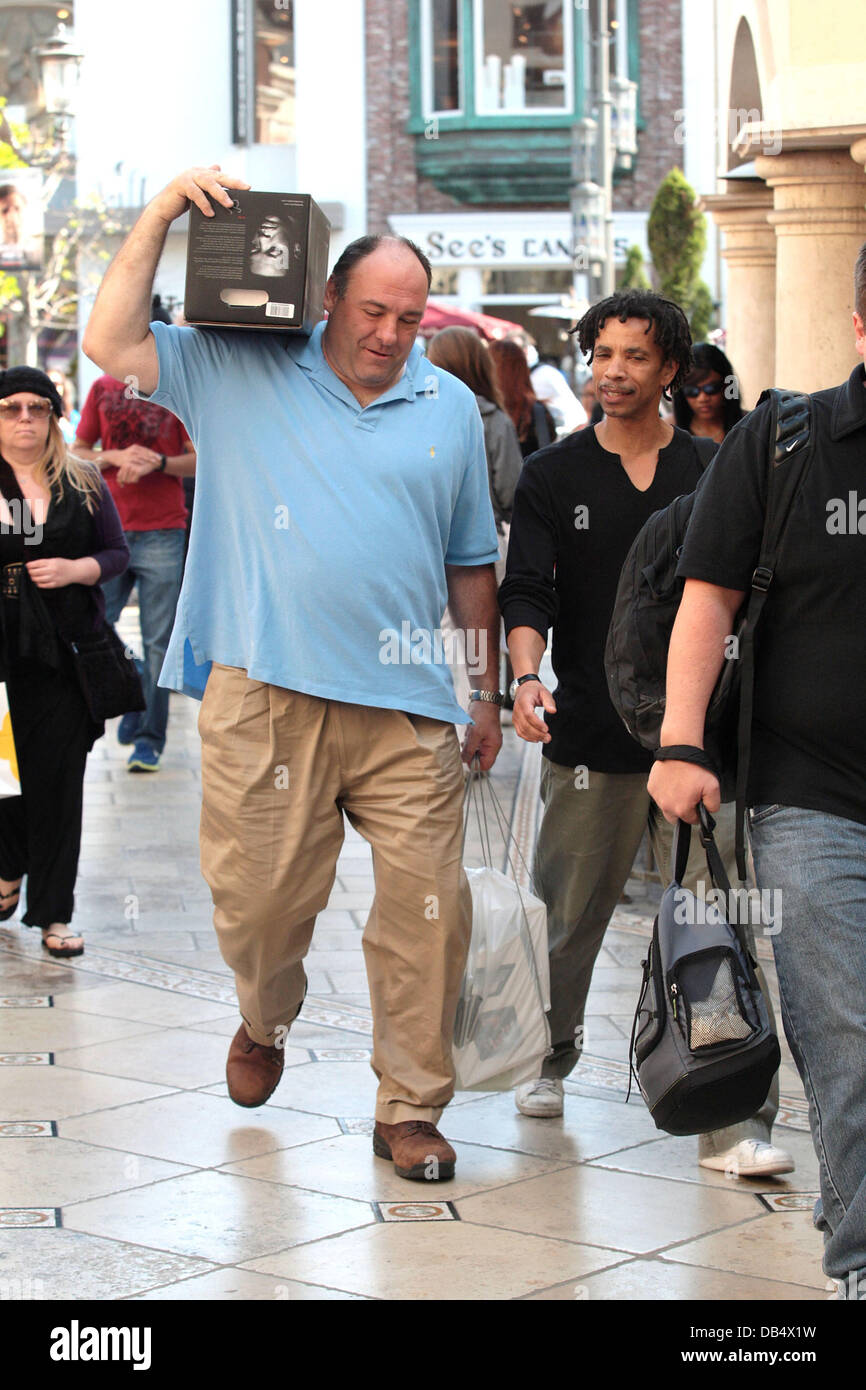 James Gandolfini Carrying A Box On His Shoulders When
