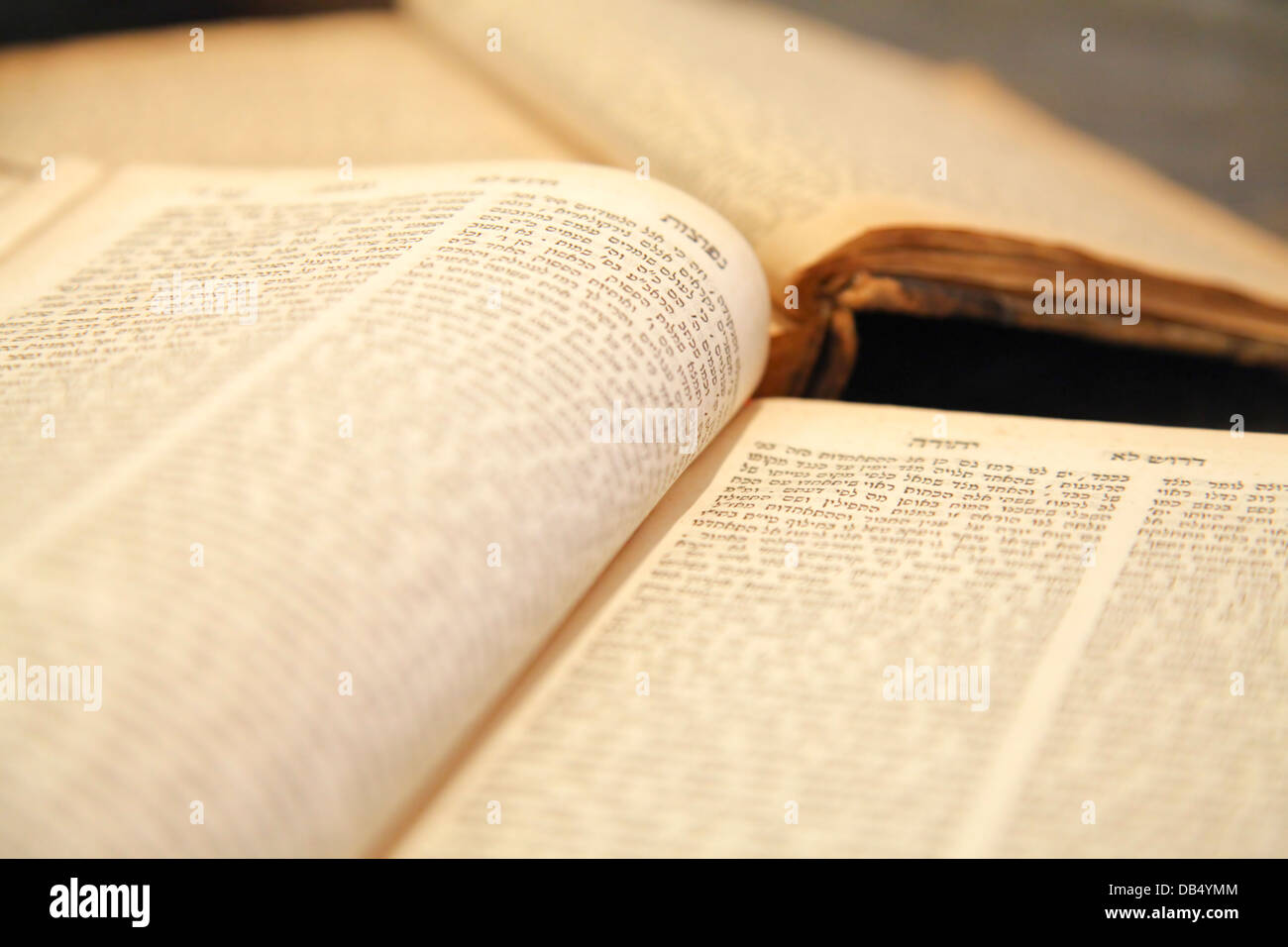 Ancient Tehilim (Psalms) book, at the Babylonian Jewry heritage center - Stock Image