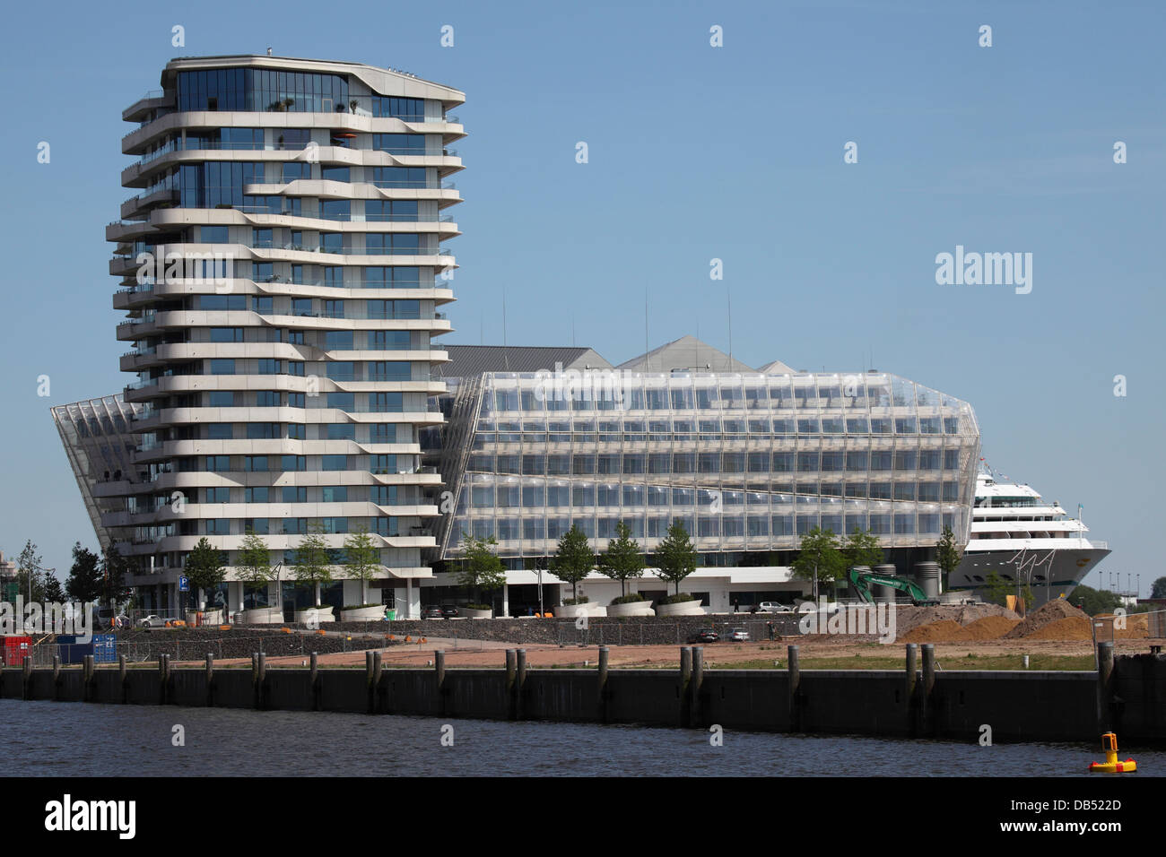 The Unilever building in the HafenCity district of Hamburg, Germany. - Stock Image