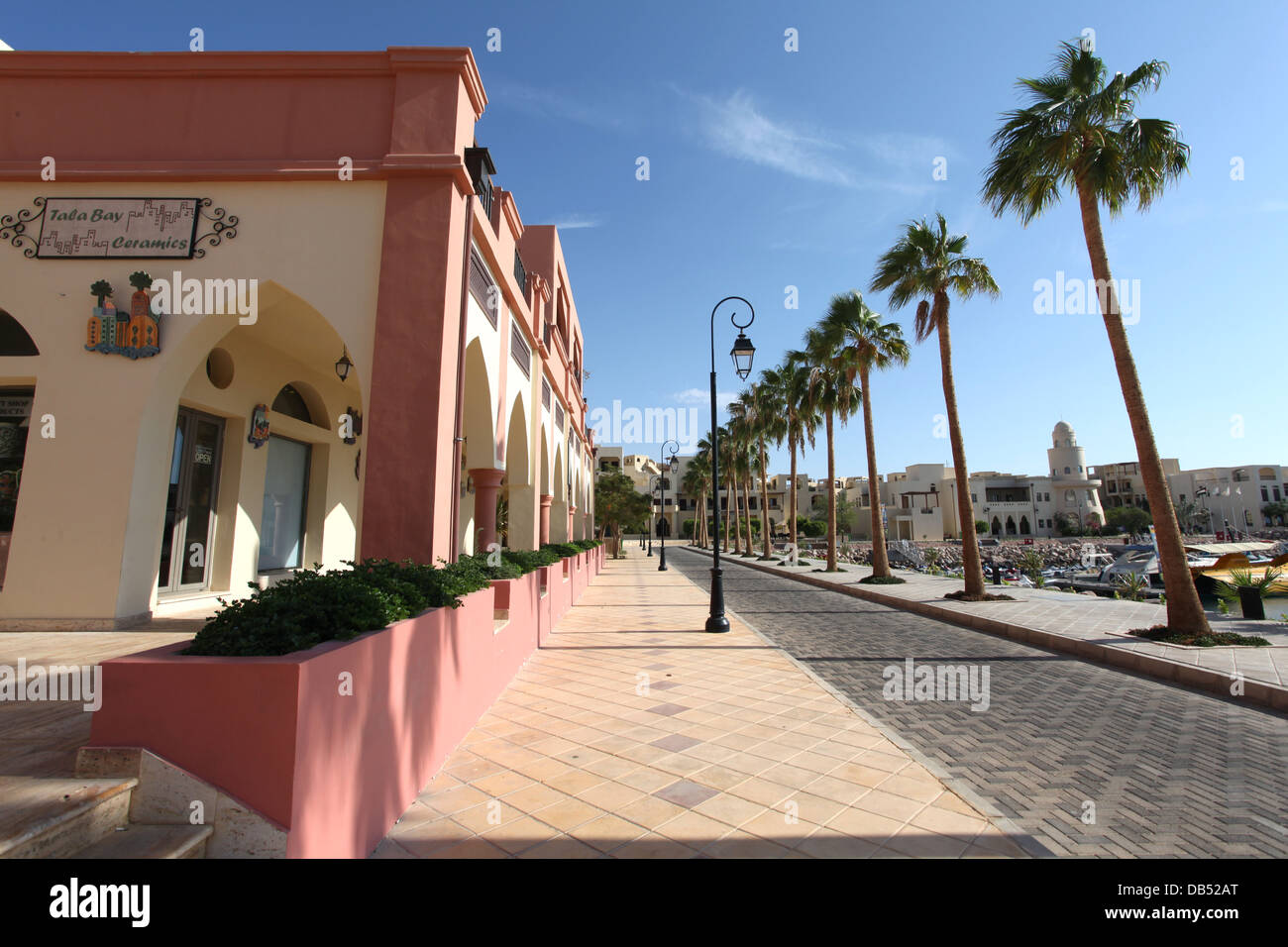 Jordan, Aqaba, Tala Bay Luxury Beach Resort  - Stock Image