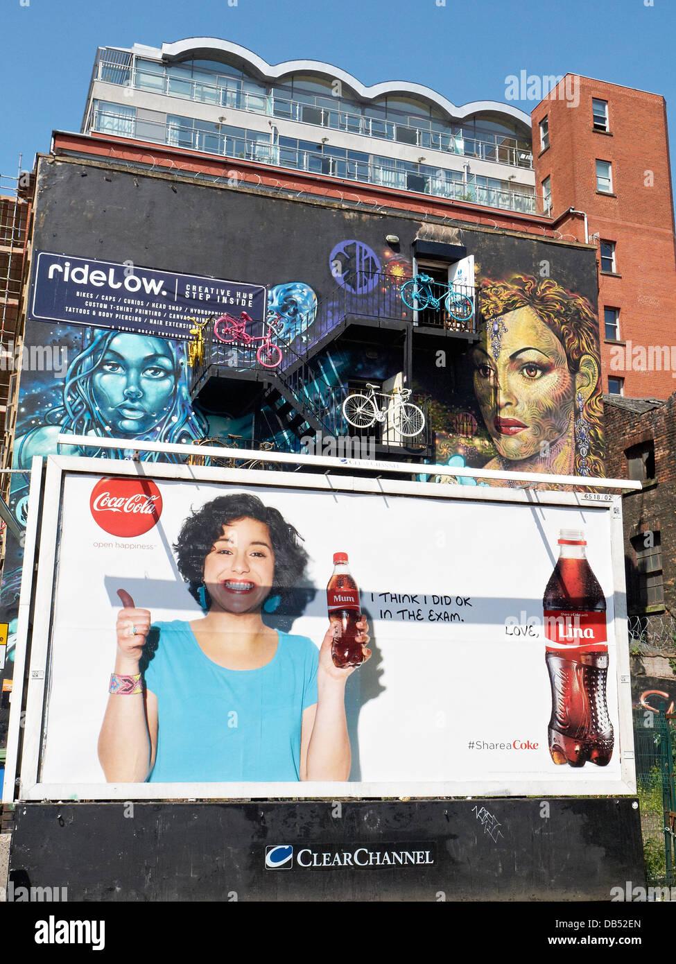 Coca Cola advert UK - Stock Image