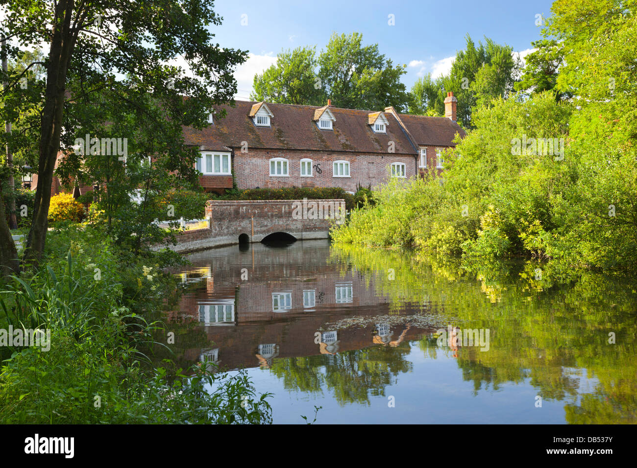 Old mill on River Kennet at Lower Denford - Stock Image