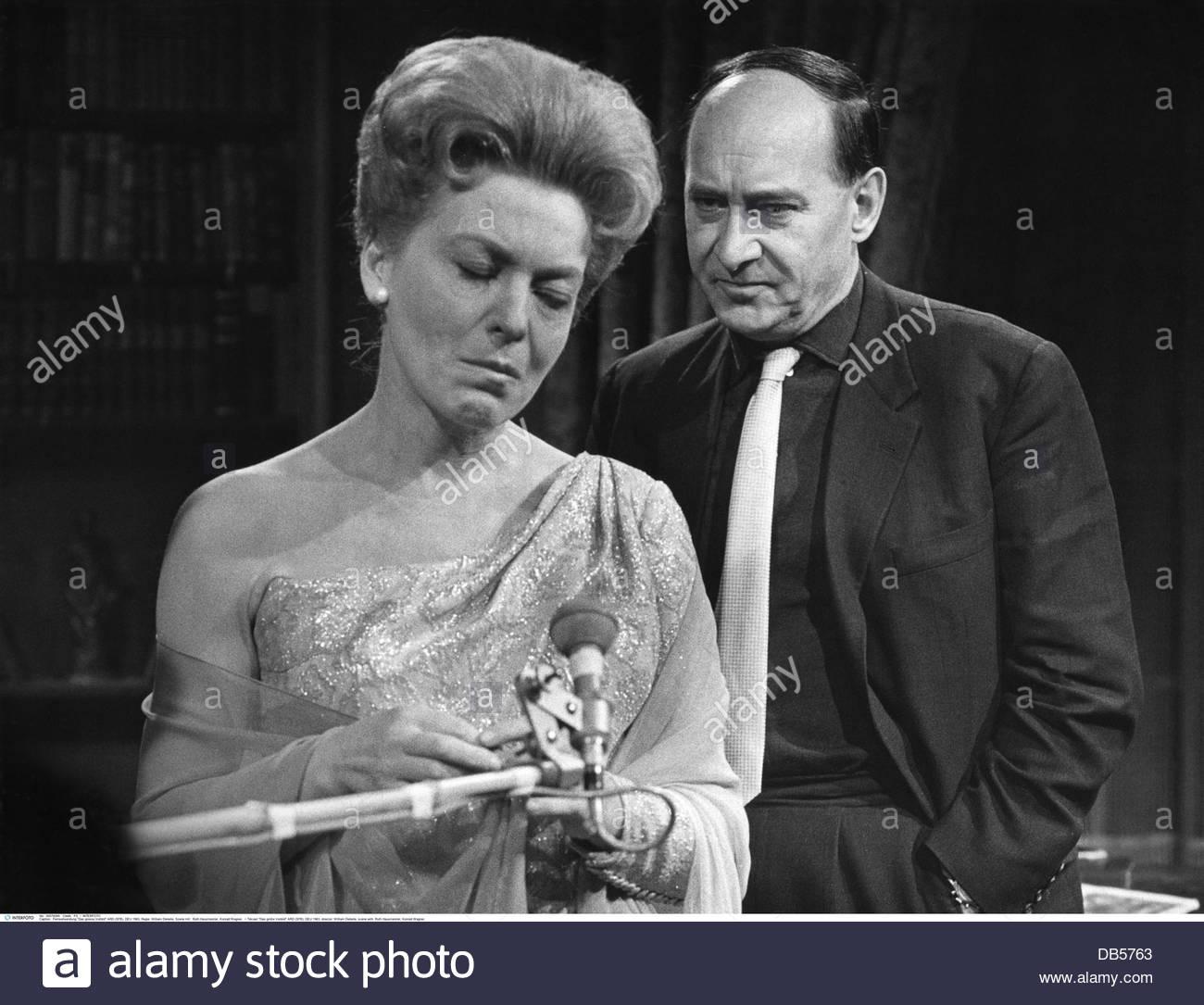 Telcast 'Das grosse Vorbild' ARD (SFB), DEU 1963, director: William Dieterle, scene with: Ruth Hausmeister, - Stock Image