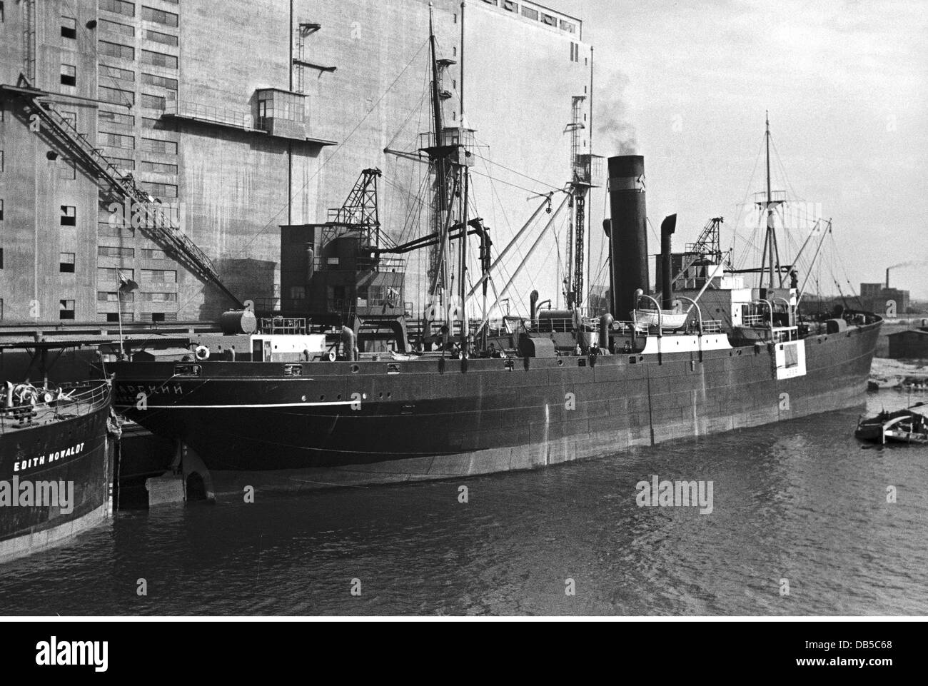 transport transportation navigation steam ships soviet freighter stock photo 58511664 alamy. Black Bedroom Furniture Sets. Home Design Ideas