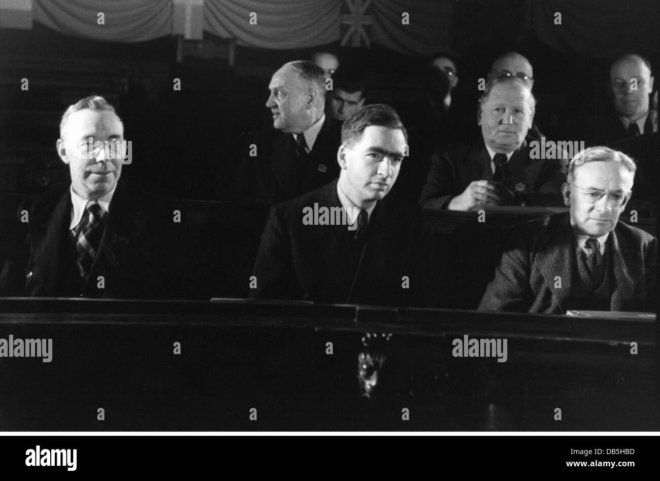 politics, International Socialists Congress, Vienna, 4.6.1948, Additional-Rights-Clearences-NA - Stock Image