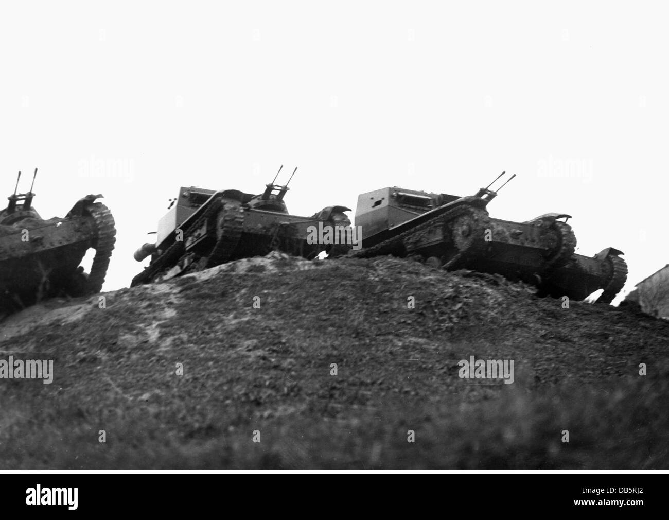 military, Italy, army,  tankettes Carro Veloce CV-35 (L3/35) during a tank race in Italy, 1936, Additional-Rights - Stock Image