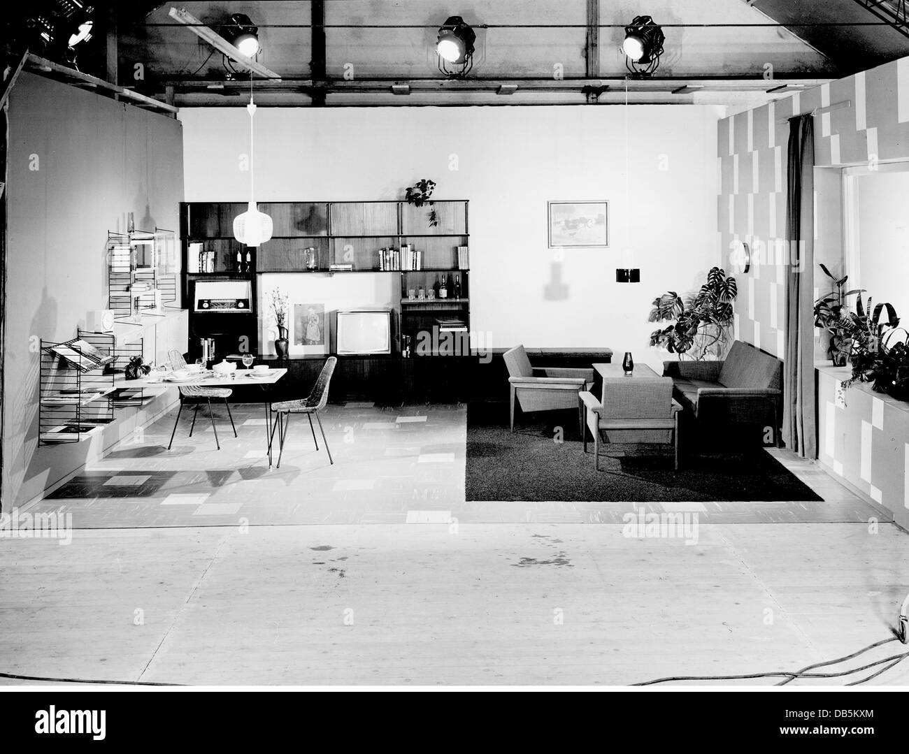 furniture, living-room, studio, 1961, 1960s, 60s, 20th century Stock ...