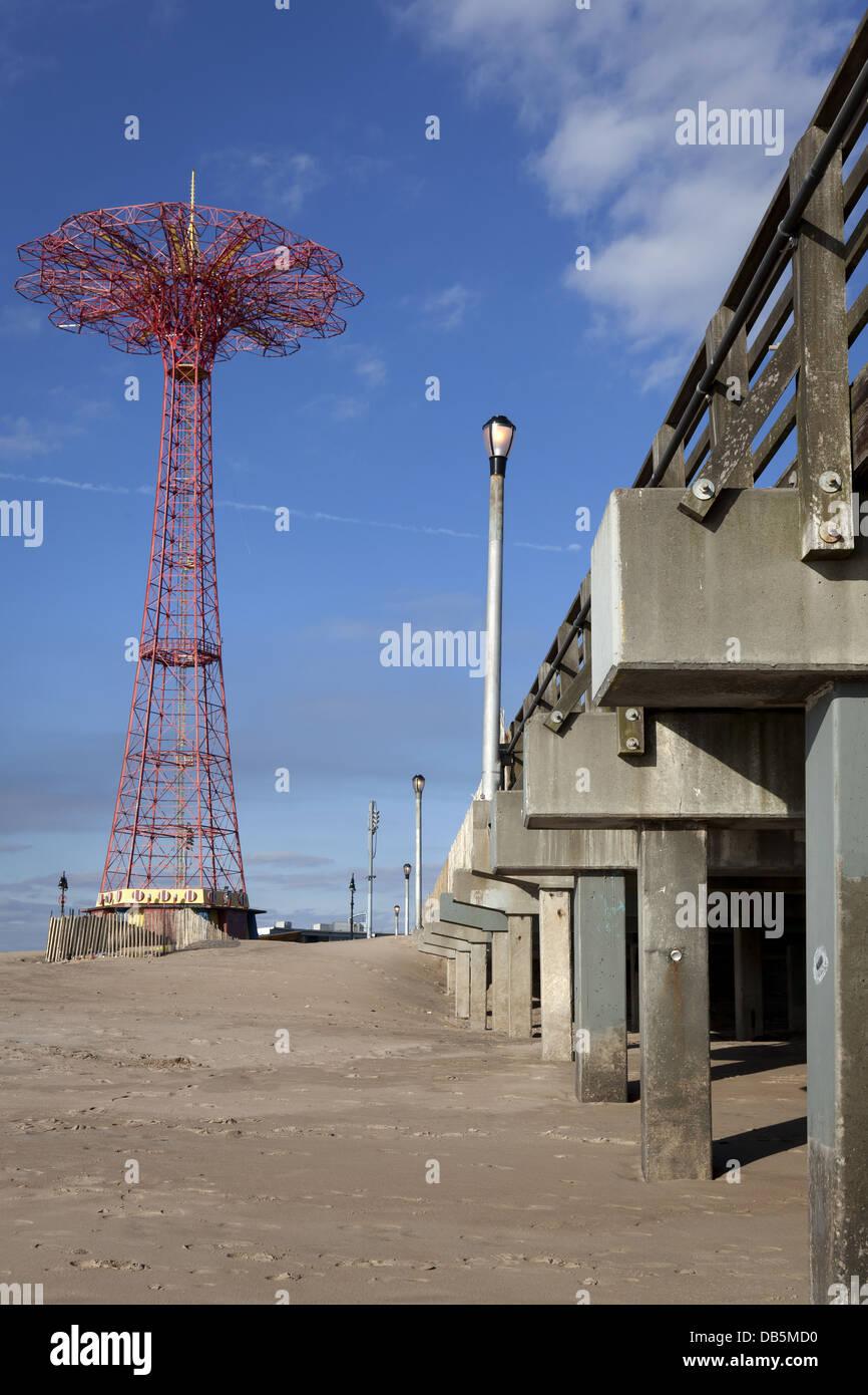 Parachute jump tower, Coney Island, Brooklyn, New York - Stock Image