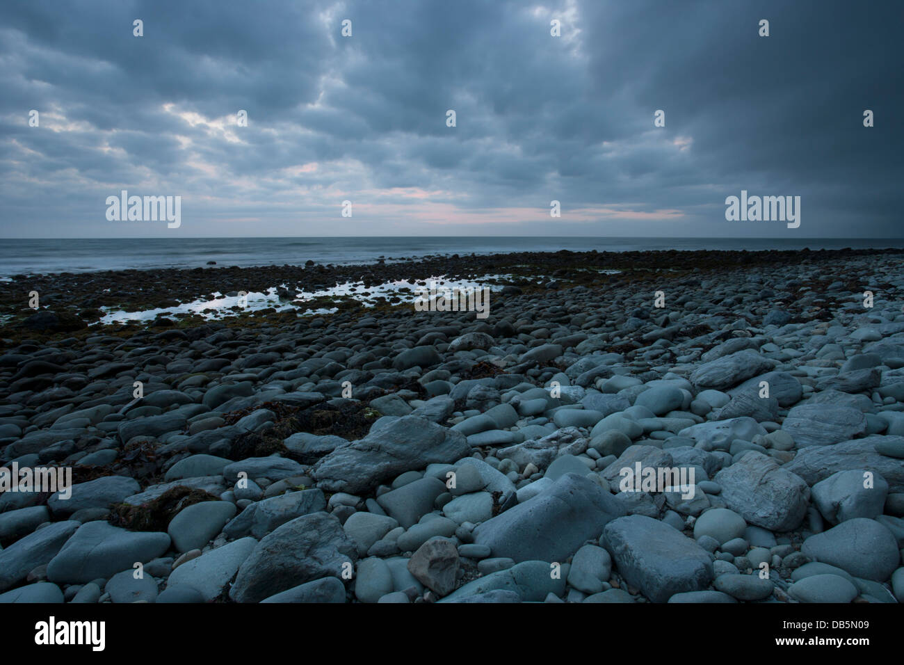 View out to the Irish Sea from the Welsh West Coast, Barmouth Bay, Wales - Stock Image