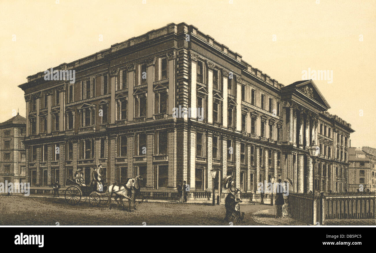 geography / travel, Great Britain, London, General Post Office, lithography, circa 1890, Additional-Rights-Clearences Stock Photo