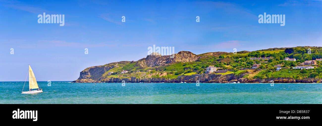irish coast landscape in summer time - Stock Image