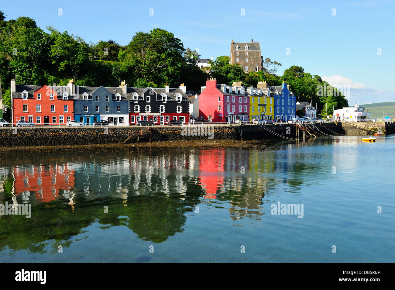 Picturesque town of Tobermory on Island of Mull, Scotland - Stock Image
