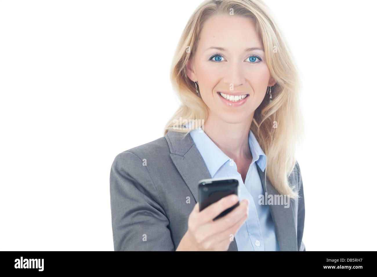businessfrau telefoniert - Stock Image