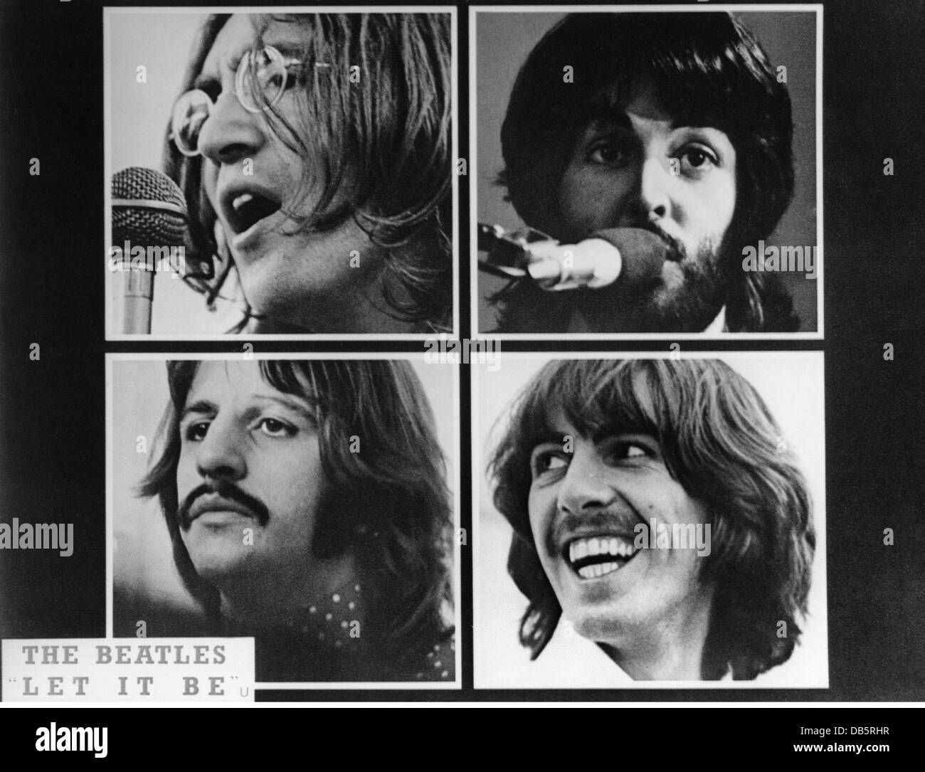 movie, 'Let it be', GBR 1969, director: Michael Lindsay-Hogg, scene with: The Beatles, music rehearse in - Stock Image