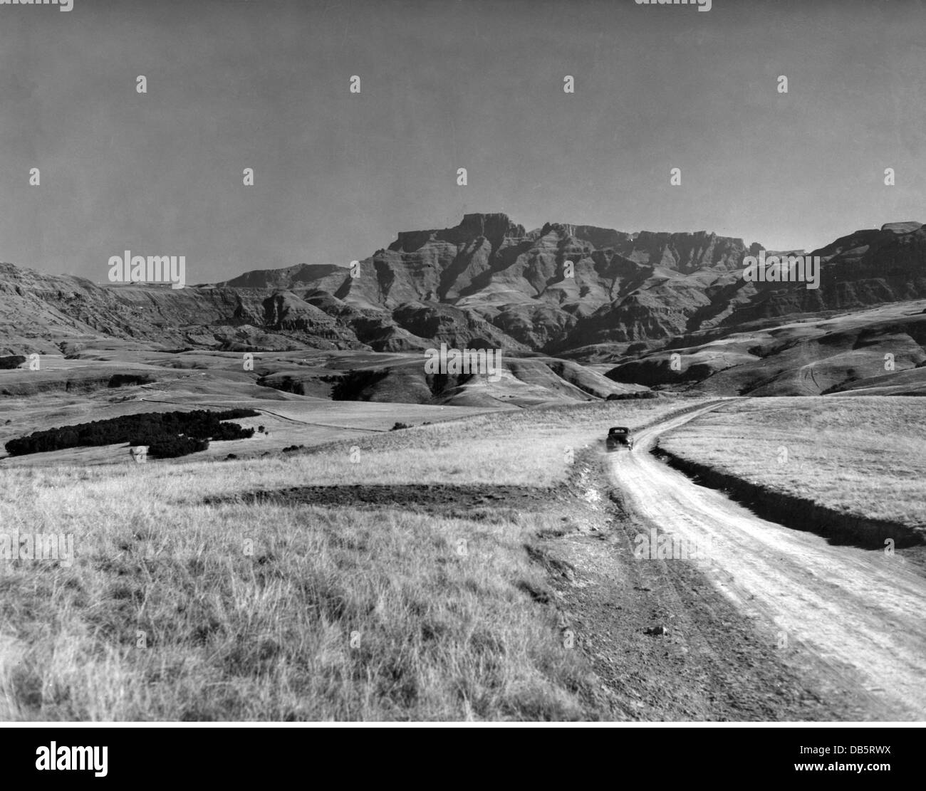 geography / travel, South Africa, landscape / landscapes, view of the Drakensberg mountain range with an ancillary Stock Photo