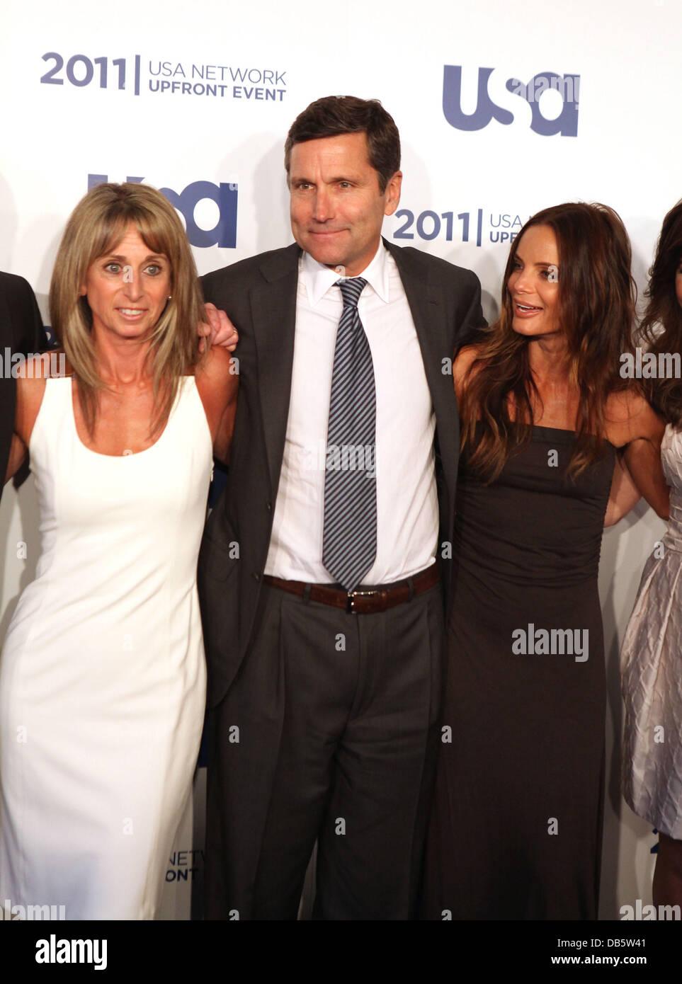 Bonnie Hammer, Steve Burke CEOof NBC, Gabrielle Anwar the 2011 USA