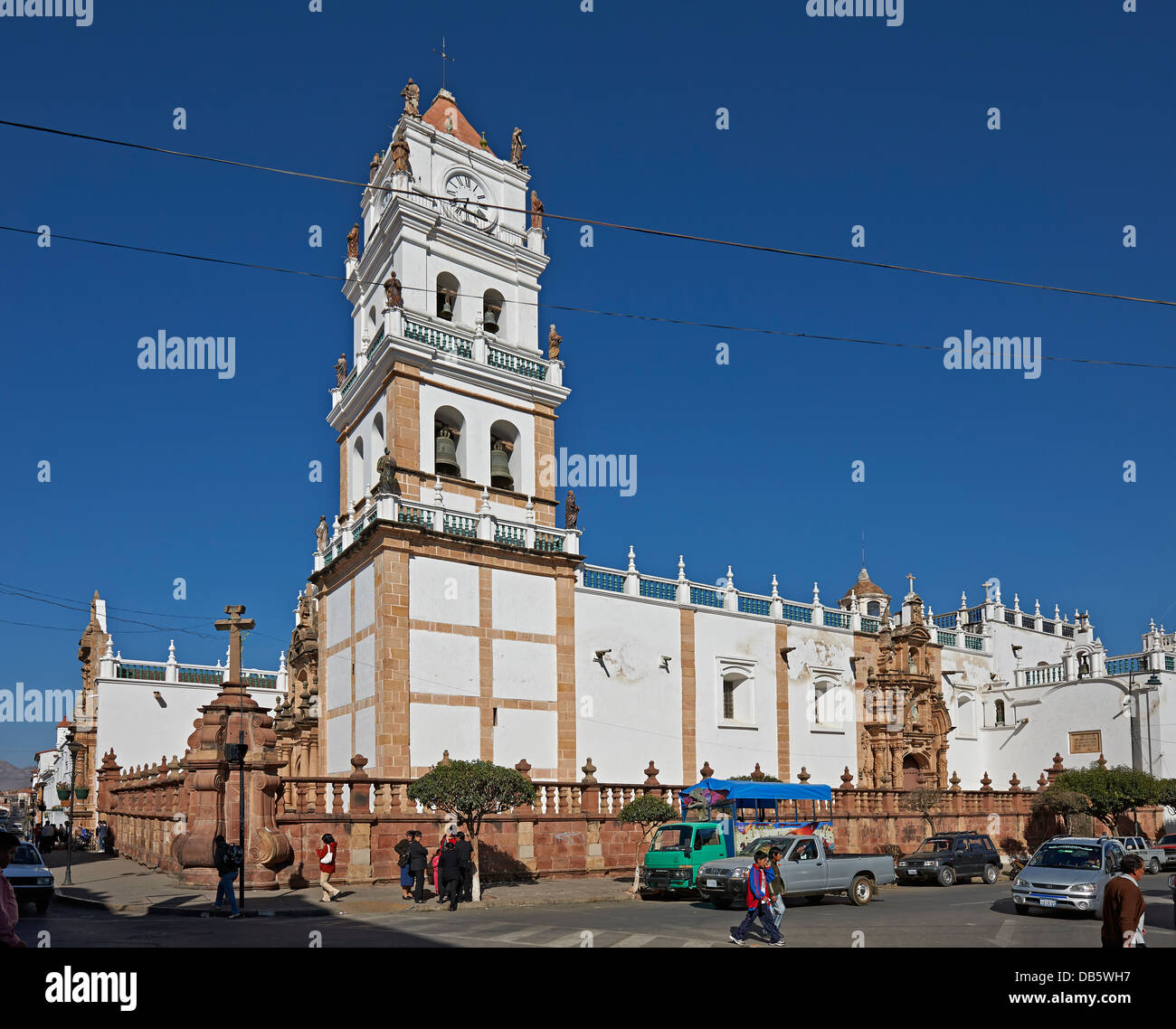 Catedral Metropolitana, cathedral of Sucre, Bolivia, South America - Stock Image