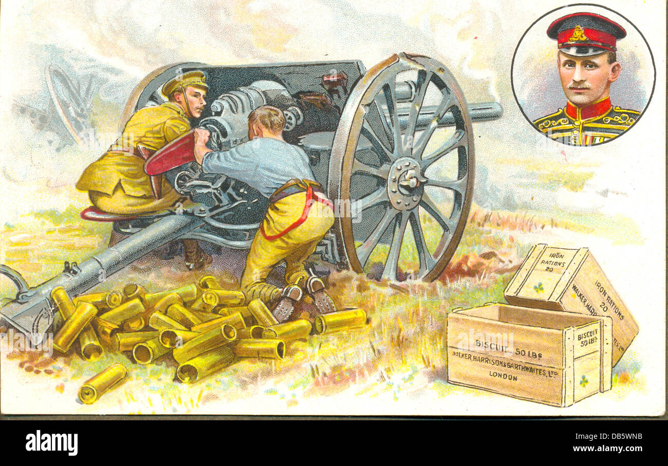 World War One postcard of Victoria Cross hero Stock Photo