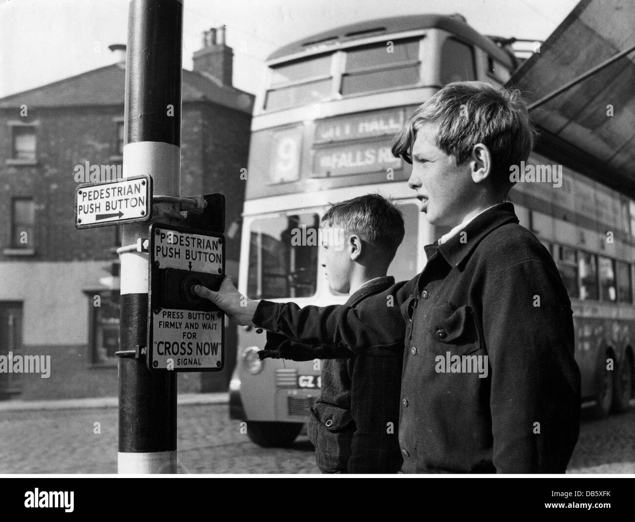 Traffic Light Circuit Stock Photos Pictures Transport Transportation Road Control Lights Two Boys Pushing The