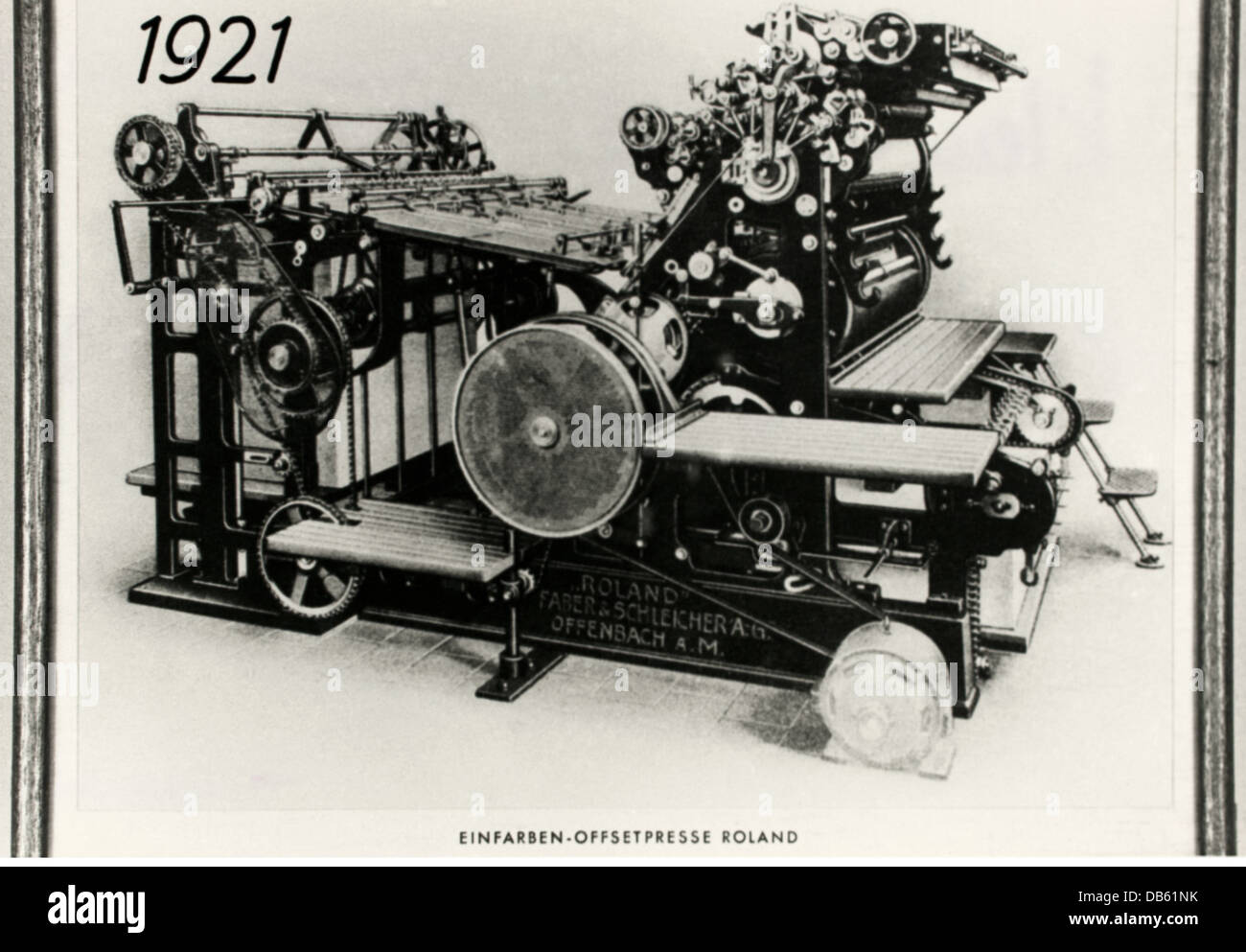 technics, typography, printing press, Roland, Faber und Schleicher AG, Offenbach, Germany, 1921, Additional-Rights - Stock Image