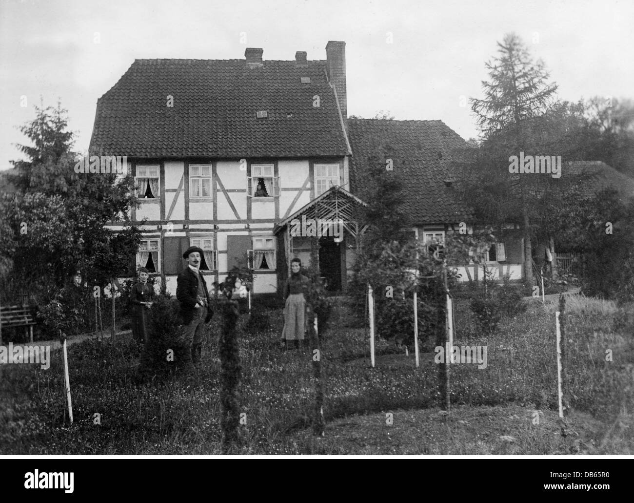 architecture, buildings, house of a forester in the Deister area, Lower Saxony, Germany, 25./26.5.1890, Additional - Stock Image