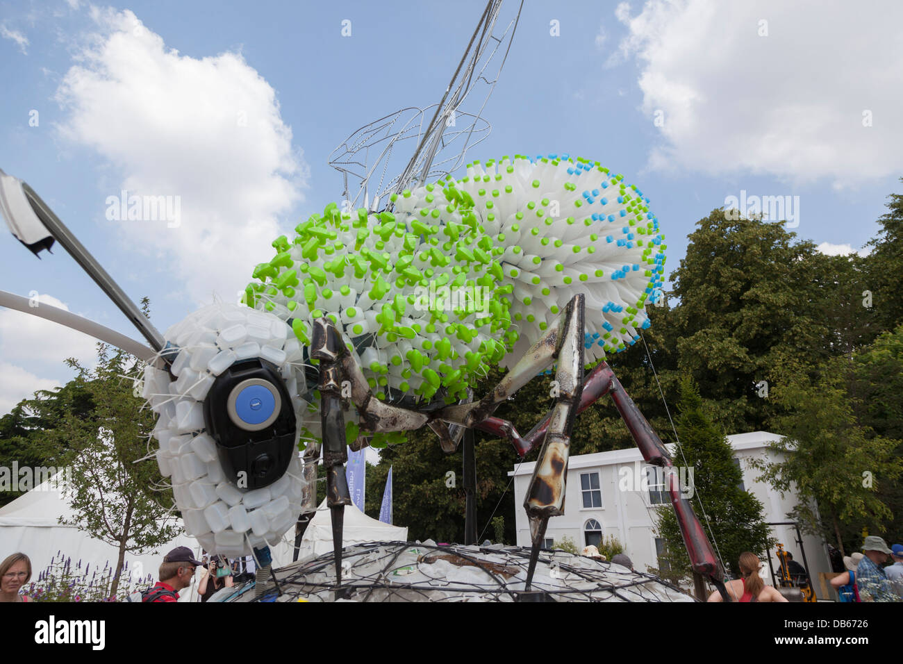 Bee Clever by Ptolemy Elrington for Ecover at Hampton Court Flower Show 2013 - Stock Image
