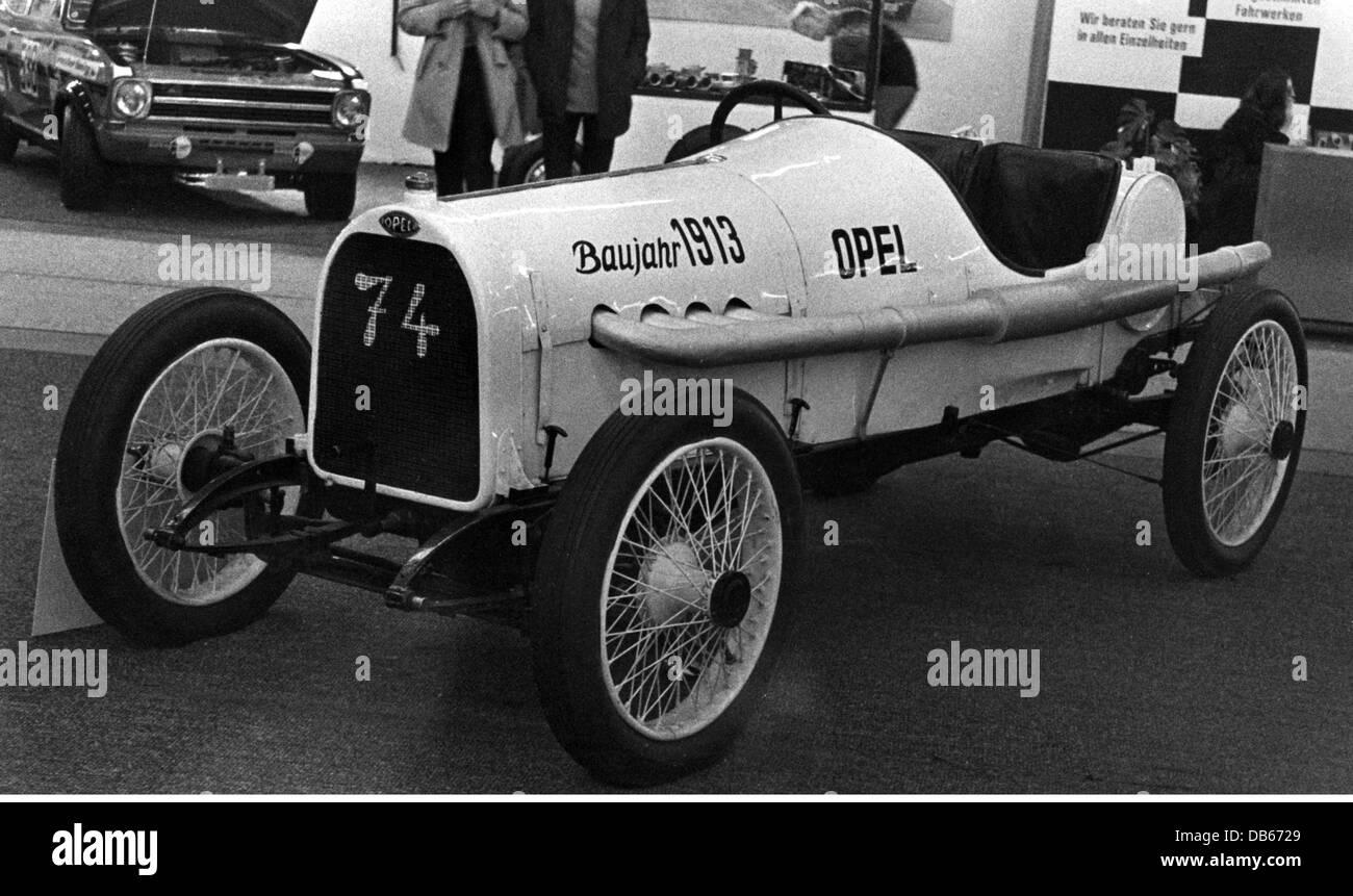 Transport Transportation Cars Opel Racing Car 1913 Sport Germany 20th Century Historic Historical People