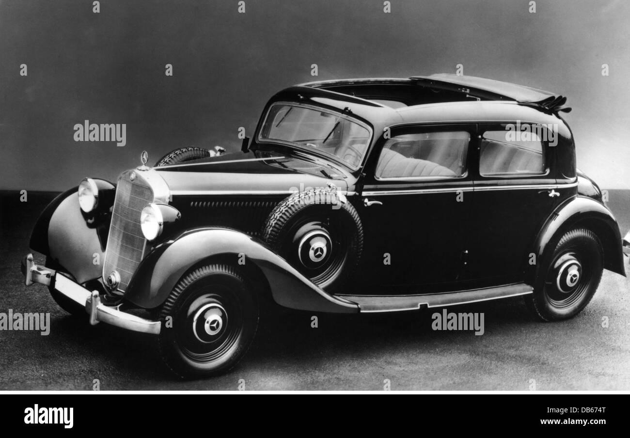 transport / transportation, cars, Mercedes-Benz 230, 1937, Mercedes ...