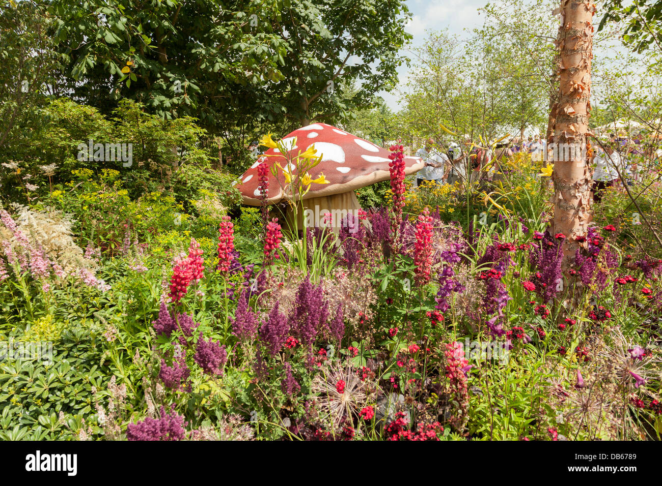 the One Show Garden by Vicky Stothard at the Hampton Court Flower Show 2013 - Stock Image