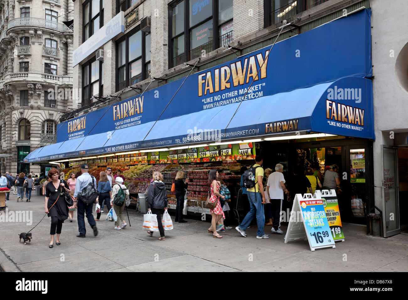 Fairway supermarket on Broadway, New York City - Stock Image
