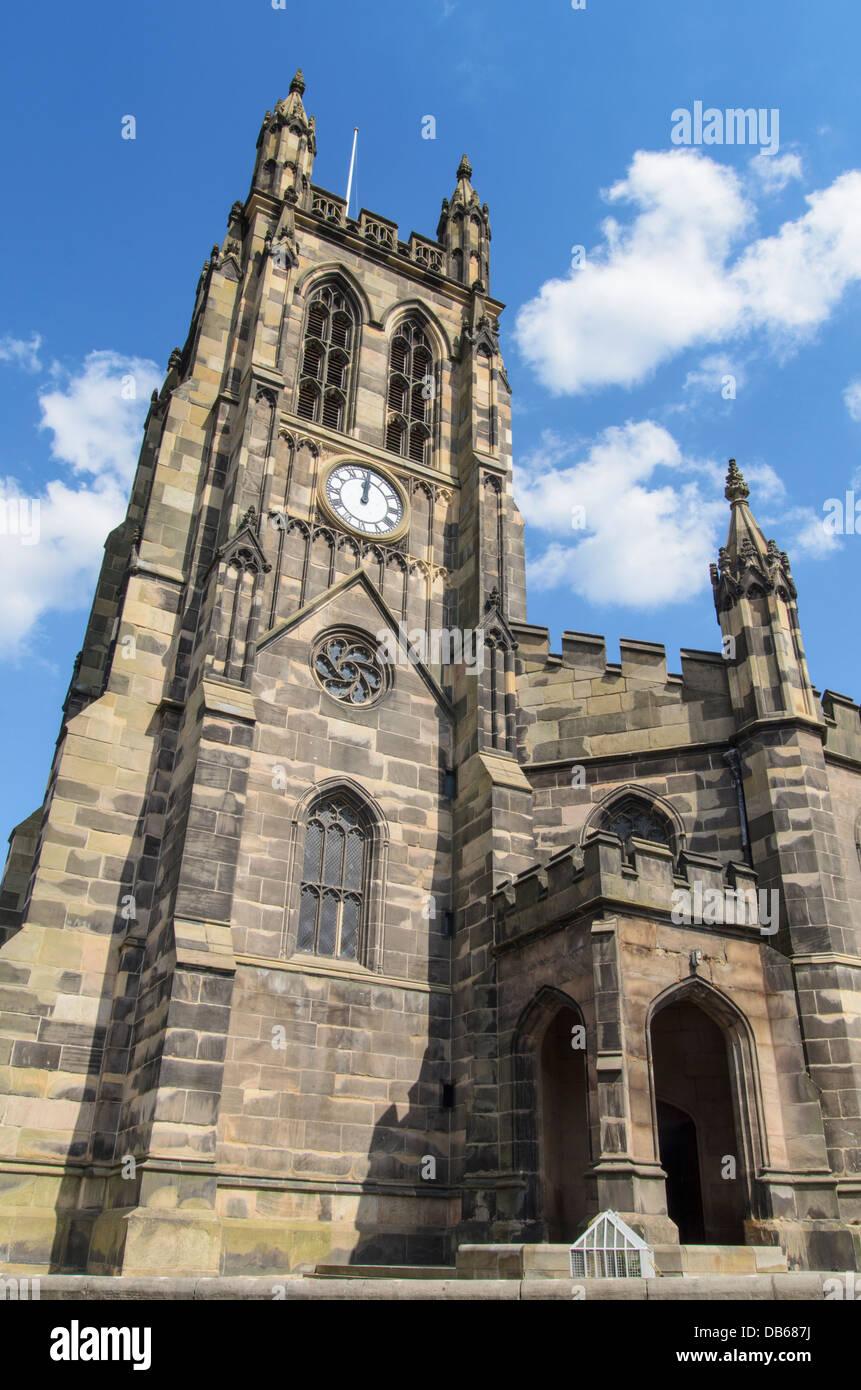 St Mary's Church, Churchgate, Stockport, England - Stock Image
